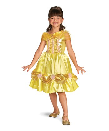 Yellow Belle Sparkle Classic Dress - Girls
