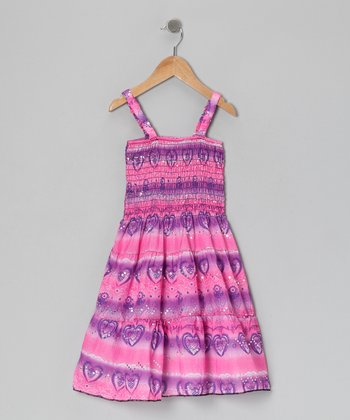 Pink & Purple Sparkle Dress