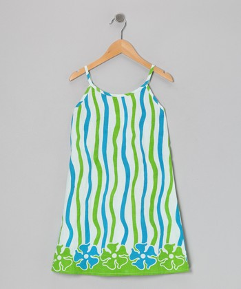 Blue & Green Dress - Toddler & Girls
