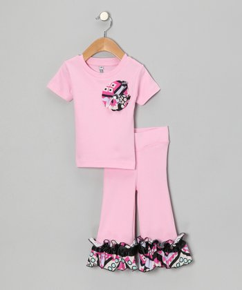 Light Pink Tee & Ruffle Pants - Infant & Toddler