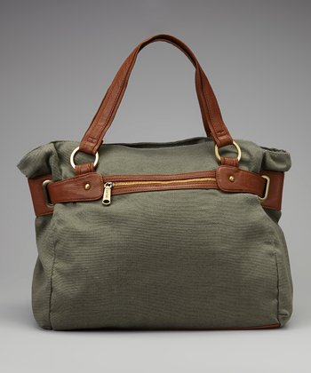Olive Green Pocket Tote