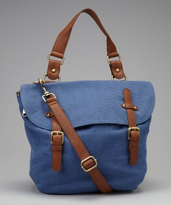 Blue & Brown Crossbody Bag