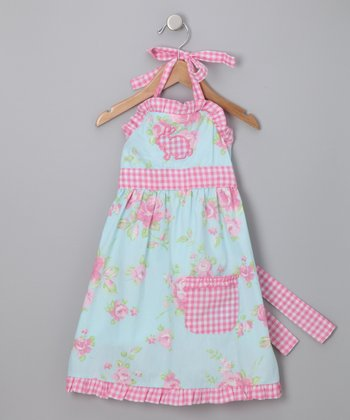 Ann Loren - Blue & Pink Shabby Chic Bunny Dress