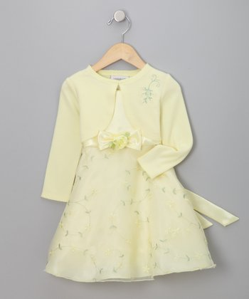 Youngland - Yellow Organza Dress & Bolero - Toddler