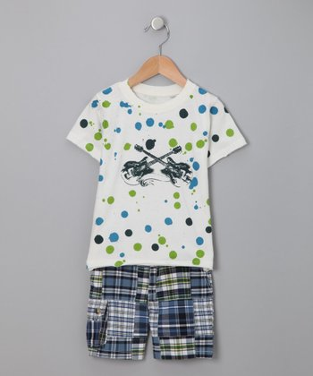 Da Lil Guys - Ink-Blotted Tee & Shorts Set - Infant, Toddler & Boys