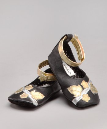 Gold Florette Leather Shoe - Infant