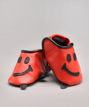 Orange Howdy Leather Shoe - Infant