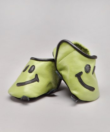 Green Howdy Leather Shoe - Infant