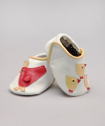 White Peepers Leather Shoe - Infant