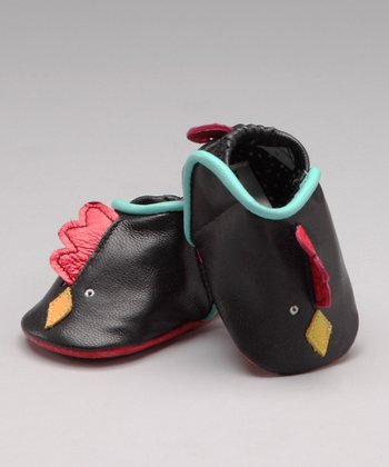 Black Rooster Leather Shoe - Infant