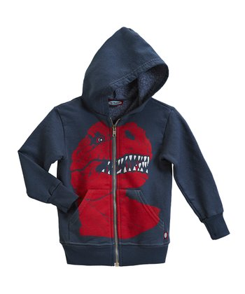 Midnight T-Rex Zip-Up Hoodie - Infant & Toddler