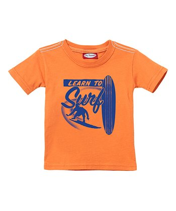 Faded Orange 'Learn To Surf' Tee - Infant, Toddler & Kids