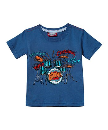 Smurf Blue Drums 'Boom!' Tee - Infant & Toddler