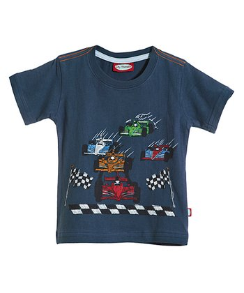 Midnight Race Cars Tee - Infant, Toddler & Kids