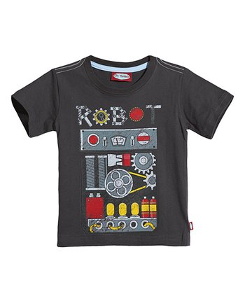 Charcoal Robot Front Tee - Infant, Toddler & Kids
