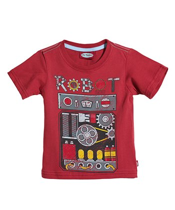 Red 'Robot' Tee - Infant