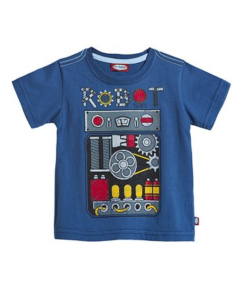 Smurf Robot Front Tee - Infant, Toddler & Kids