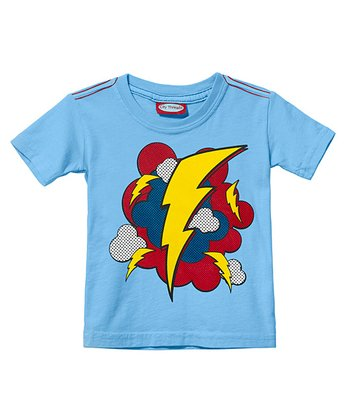 Bright Light Blue Lightning Blast Tee - Infant, Toddler & Kids