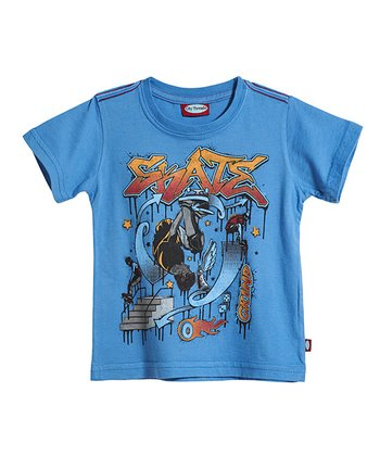 Bright Denim 'Skate' Park Tee - Infant, Toddler & Kids