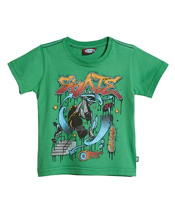 Green 'Skate' Park Tee - Infant, Toddler & Kids