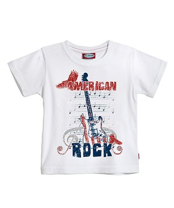 White 'American Rock' Tee - Infant & Toddler