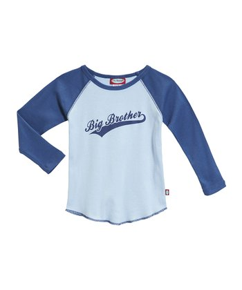Baby Blue & Denim Blue 'Big Brother' Raglan Tee - Toddler & Boys