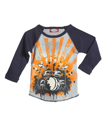 Road & Navy Raglan Tee - Infant