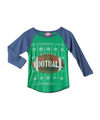 Elf & Denim Blue Football Raglan Tee - Infant & Kids