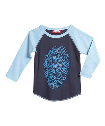 Navy & Bright Blue Raglan Tee - Infant