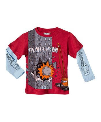 Red 'Demolition' Layered Tee - Infant & Toddler