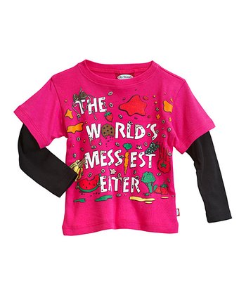 Pink 'Messiest Eater' Layered Tee - Infant & Toddler