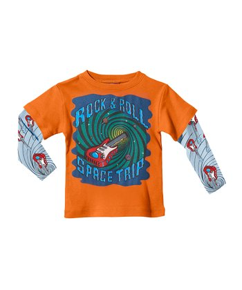 Orange Guitar Vortex Layered Tee - Infant, Toddler & Kids