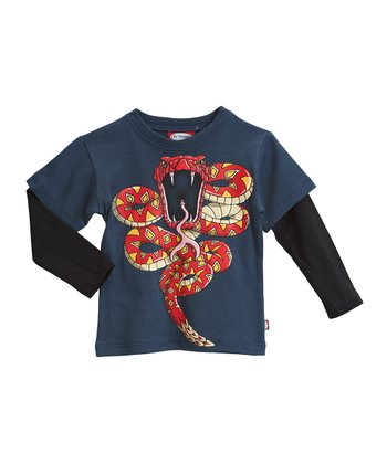 Midnight & Black Viper Layered Tee - Infant, Toddler & Kids