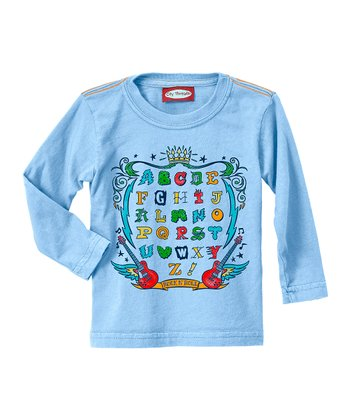 Bright Light Blue Alphabet Tee - Infant, Toddler & Kids