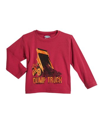Red 'Dump Truck' Soft Stretch Tee - Infant & Boys