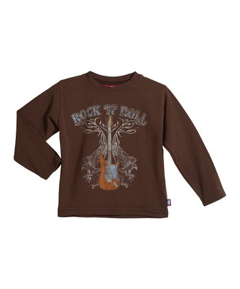 Brown 'Rock 'N' Roll' Soft Stretch Tee - Infant, Toddler & Boys