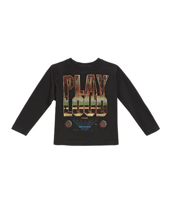 Black 'Play Loud' Tee - Infant & Toddler