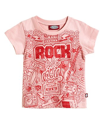 Pinky & Red 'Rock' Tee - Infant, Toddler & Girls