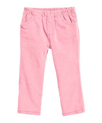 Pink & Hot Pink Corduroy Jeggings - Infant & Girls