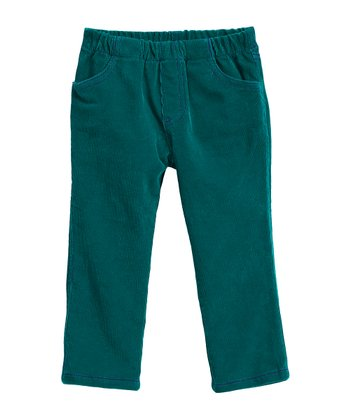 Jade & Purple Corduroy Jeggings - Infant, Toddler & Girls