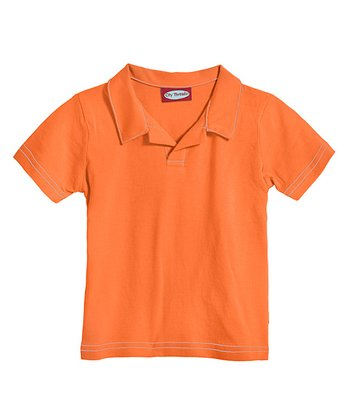Beach Ball Orange Soft Jersey Polo - Infant, Toddler & Boys