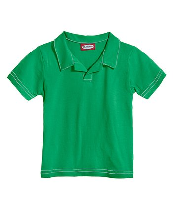 Green Soft Jersey Polo - Infant