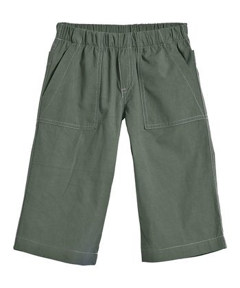 Turtle & Gray Clam Digger Shorts - Infant, Toddler & Kids