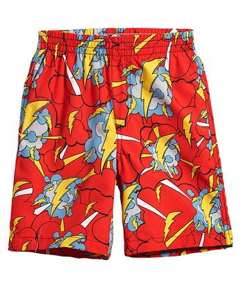 Ketchup Lightning Blast Swim Trunks - Infant, Toddler & Boys