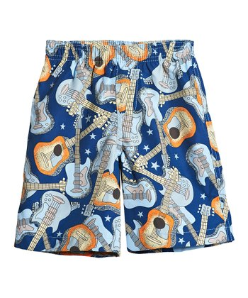 Blue Guitars Swim Trunks - Infant, Toddler & Boys