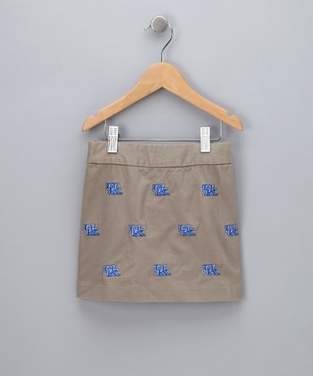 Khaki Kentucky Skirt - Girls