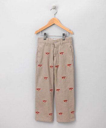 Khaki Virginia Tech Pants - Boys