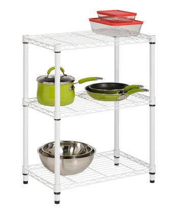 Chrome Three-Tier Shelving Unit