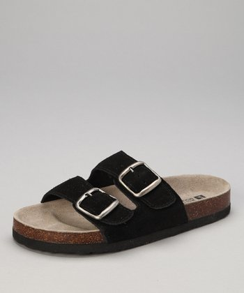 Black Suede Helga Slide
