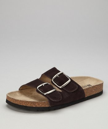 Brown Suede Helga Slide